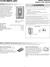 chamberlain wslcev remote light switch chamberlain wslcev remote light switch users manual
