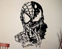 aliexpress com buy venom spiderman wall art sticker marvel aliexpress com buy venom spiderman wall art sticker marvel comics supervillain vinyl decal decoration home kids room decor removable mural from reliable