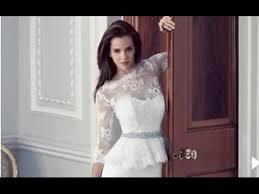 peplum wedding dress with sleeves youtube
