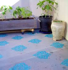 Outdoor Floor Painting Ideas 14 Best Stenciled Concrete Patio Floors Images On Pinterest