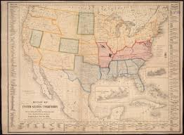 1861 Map Of The United States by Military Map Of The United States U0026 Territories Showing The