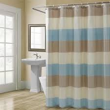 Tan And Blue Curtains Shower Curtains Vinyl U0026 Fabric Croscill