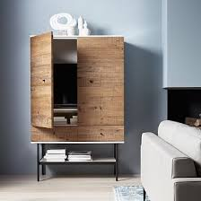 Media Cabinet West Elm Reclaimed Wood Lacquer Media Tall Media Cabinet Media Cabinet