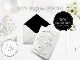 pdf wedding invitations art deco wedding invitation envelope liner instant download
