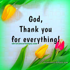 thanksgiving prayer god thank you for everything christian