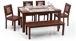 six seater dining table arabia xl capra 6 seater dining sets with bench urban ladder