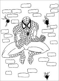 spiderman coloring pages kids kids
