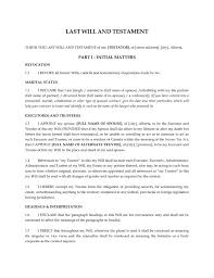 printable sample last will and testament template form real india