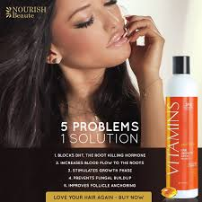 amazon com nourish beaute premium vitamins hair growth shampoo