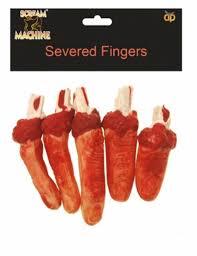 halloween horror props 5 pcs chop shop bloody severed finggers halloween horror props