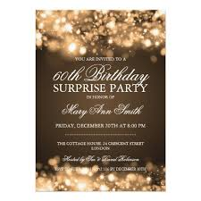 birthday gold sparkling lights 5x7 paper invitation