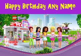 lego friends birthday card