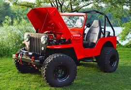 custom jeep red 1956 willys cj3b 4bt cummins custom album on imgur