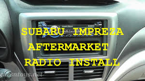 subaru aftermarket radio install with bluetooth hd youtube