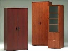 metal and wood storage cabinets office cabinets and shelves harbor solid hazel brown storage cabinet