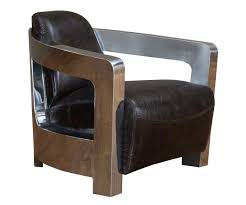Omni Leather Furniture Leather Coupe Chair Stainless Steel And Leather Chair