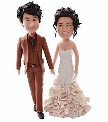 personalized wedding cake toppers custom personalized wedding cake topper bobble clay figurine