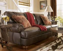 rustic living room furniture ideas with brown leather sofa living room a rustic chic living room ideas with big patterned