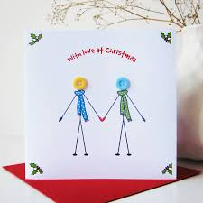 husband and wife u0027 button christmas card by mrs l cards