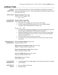 Sample Resume Teachers by Sample Resume For Teacher Of English Templates