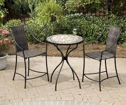 Black Metal Chairs Outdoor Dining Room Marvelous Outdoor Bistro Set Create Enjoyable Outdoor