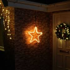 45cm outdoor connectable warm white led christmas star light