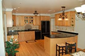 outstanding light oak kitchen cabinets with solid surface