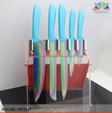 rainbow titanium knives set my style pinterest knife sets