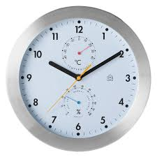 weather white wall clock with thermometer buy now at habitat uk