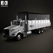 kenworth t800 truck kenworth t800 cotton truck 2011 3d model hum3d