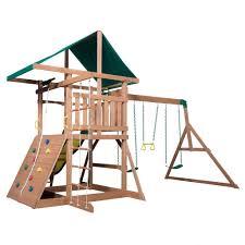 mount mckinley wooden swing set