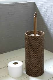 wicker toilet paper holder stainless steel work bench polished