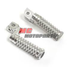 silver yamaha front cnc adjustable foot pegs xjr 1200 xjr 1300 sp
