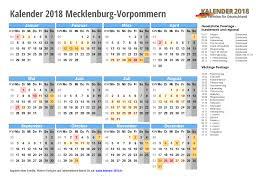 Kalender 2018 Feiertage Mv Kalender 2018 Mecklenburg Vorpommern Zum Ausdrucken Kalender 2018