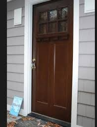 Feather River Exterior Doors Feather River Doors 6 Lite Craftsman Chestnut Mahogany Fiberglass