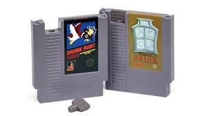 his and flasks whiskey flasks made from classic nintendo cartridges