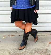 boots moto lace slip dress u0026 cowboy boots things that bring a smile to your