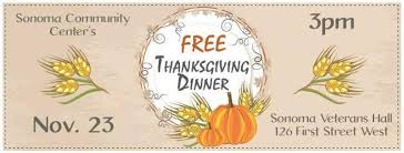 two spots for a free thanksgiving meal in sonoma