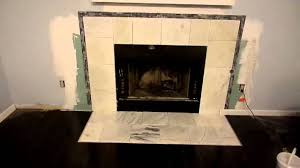Tiled Fireplace Wall by Marble And Tile Around Fireplace Part 1 Youtube