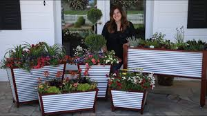Self Watering Planters Galvanized Self Watering Planters Garden Answer Youtube