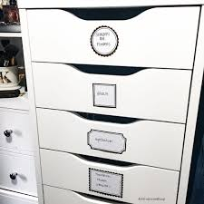makeup storage ideas using alex drawers from ikea use stickers