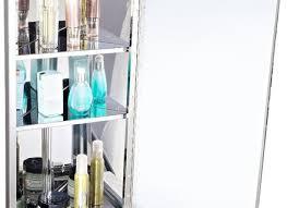 1200 x 300 tall stainless steel corner bathroom mirror cabinet