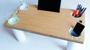 How To Build A Sofa Table by How To Make A Multipurpose Cardboard Bed Table Diy Home Tutorial