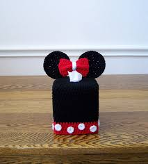 super cute for a disney bathroom theme crochet tissue box cover