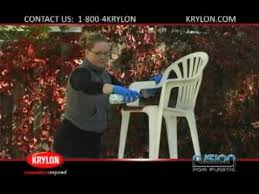 how to paint plastic patio furniture krylon spray paint youtube