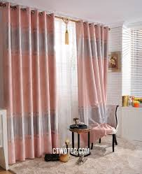 custom cheap swag pinch pleat silver and pink curtains