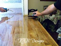 Diy Wooden Kitchen Countertops Remodelaholic Easy Butcher Block Countertop Tutorial