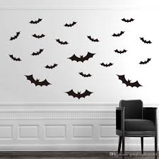 diy black bats wall sticker removable vinyl stickers decals mural see larger image