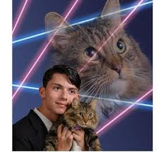 cat yearbook high school student wants senior portrait with his cat in yearbook