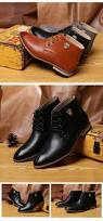 leather boots for men dress shoes brown casual ankle boots new
